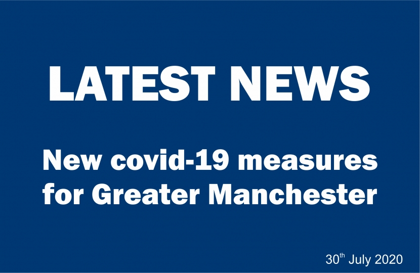 Latest News - New Covid-19 measures for Greater Manchester