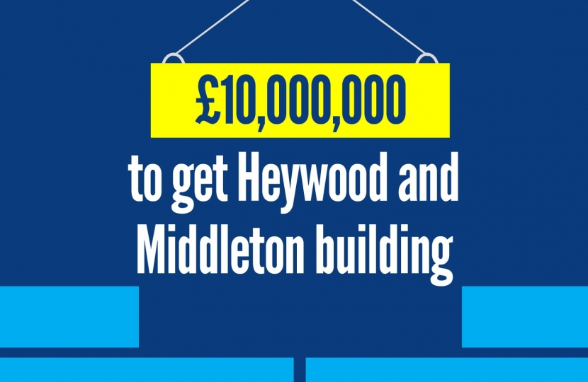 £10m to get Heywood and Middleton building